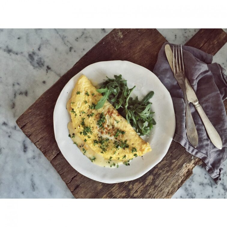 The perfect omelette w/ Brie de Meaux